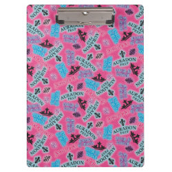 Clipboard with Descendants Auradon Prep Pink Pattern design