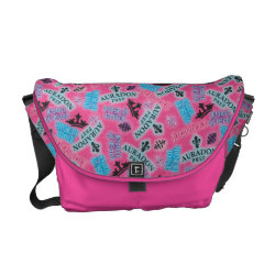 Rickshaw Medium Zero Messenger Bag with Descendants Auradon Prep Pink Pattern design