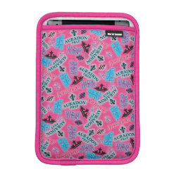 iPad Mini Sleeve with Descendants Auradon Prep Pink Pattern design