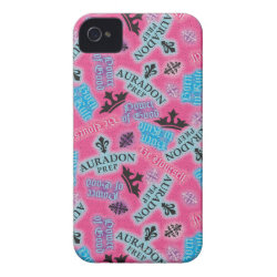 Case-Mate iPhone 4 Barely There Universal Case with Descendants Auradon Prep Pink Pattern design