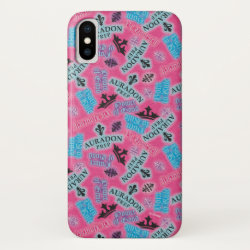Case-Mate Barely There iPhone X Case with Descendants Auradon Prep Pink Pattern design
