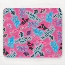 Mousepad with Descendants Auradon Prep Pink Pattern design