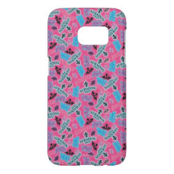 Case-Mate Barely There Samsung Galaxy S7 Case with Descendants Auradon Prep Pink Pattern design
