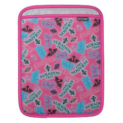 iPad Sleeve with Descendants Auradon Prep Pink Pattern design
