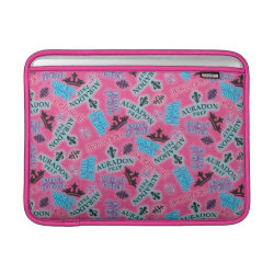 Macbook Air Sleeve with Descendants Auradon Prep Pink Pattern design