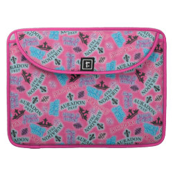 Macbook Pro 15' Flap Sleeve with Descendants Auradon Prep Pink Pattern design