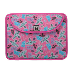 Macbook Pro 13' Flap Sleeve with Descendants Auradon Prep Pink Pattern design
