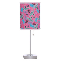 Table Lamp with Descendants Auradon Prep Pink Pattern design