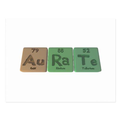 Aurate-Au-Ra-Te-Oro-Radio-Telurio Tarjetas Postales