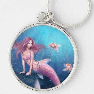 Aurelia Goldfish Mermaid Art Premium Keychain