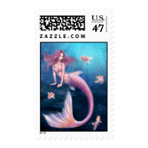 Aurelia Goldfish Mermaid Custom Postage