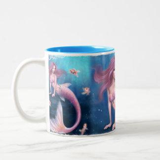 Aurelia Goldfish Mermaid Two-Tone Ceramic Mug