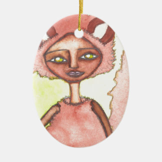 Aurelia the quick-footed.jpg ceramic ornament