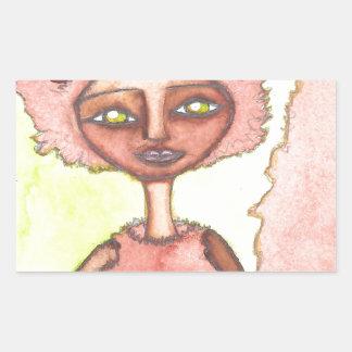 Aurelia the quick-footed.jpg rectangular sticker