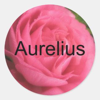 Aurelius Pegatina Redonda
