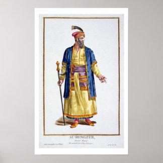 Aurengzeb, gran Khan de las hordas mongoles del re Póster