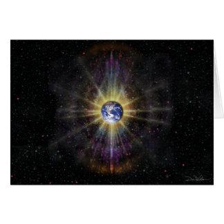 Aureola 4 de la tierra tarjeta de felicitación