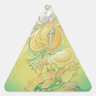 Aureola de Ganesh Pegatina Triangular