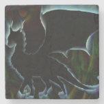 Aureola del dragón posavasos de piedra