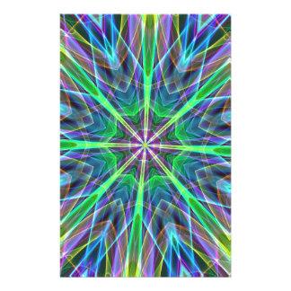 Aureola en colores pastel de neón vibrante fresca  papeleria de diseño