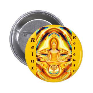 Aureola, fuerza y Meditation_ Pin Redondo 5 Cm