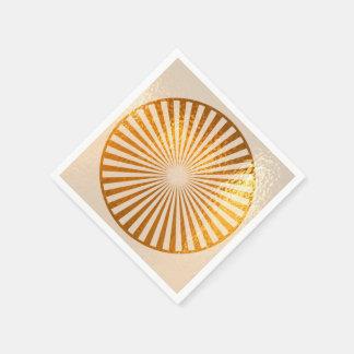 Aureola positiva de la energía de Chakra del oro Servilletas De Papel
