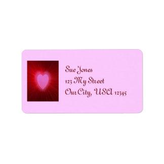 Aureola rosada etiquetas de dirección