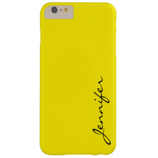Aureolin color background barely there iPhone 6 plus case