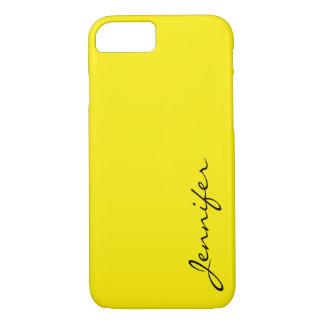 Aureolin color background iPhone 7 case