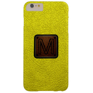 Aureolin Leather Look Monogram Barely There iPhone 6 Plus Case