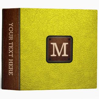 Aureolin Leather Look Monogram Binder