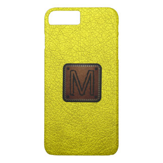 Aureolin Leather Look Monogram iPhone 7 Plus Case