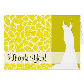 Aureolin Yellow Giraffe Animal Print Card