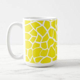 Aureolin Yellow Giraffe Animal Print Coffee Mug