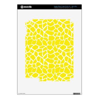 Aureolin Yellow Giraffe Animal Print iPad 3 Decals