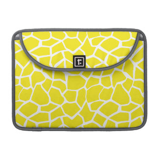 Aureolin Yellow Giraffe Animal Print Sleeve For MacBooks