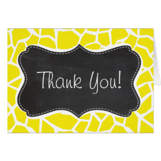 Aureolin Yellow Giraffe; Chalkboard look Greeting Card