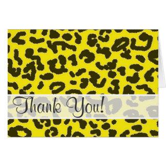 Aureolin Yellow Leopard Animal Print Card