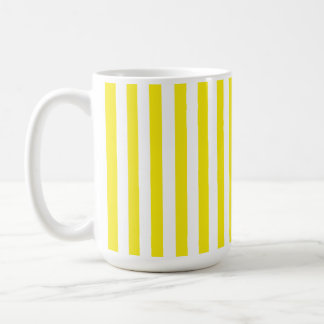 Aureolin Yellow Stripes; Striped Coffee Mug