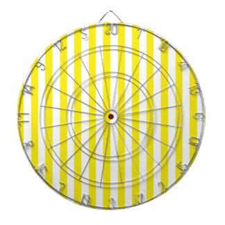 Aureolin Yellow Stripes; Striped Dartboard