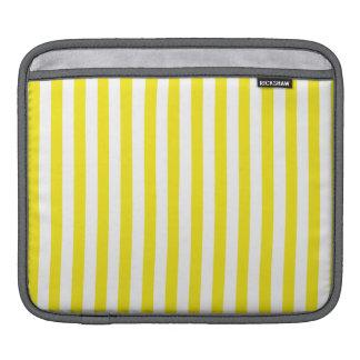 Aureolin Yellow Stripes; Striped iPad Sleeve