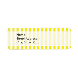 Aureolin Yellow Stripes; Striped Label
