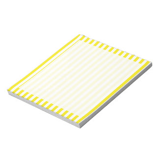 Aureolin Yellow Stripes; Striped Notepad