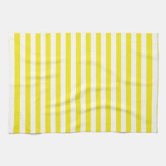 Aureolin Yellow Stripes; Striped Towel