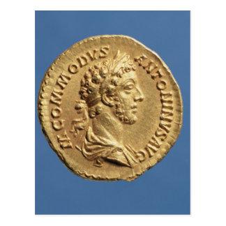 Aureus  bust of Commodus Postcard