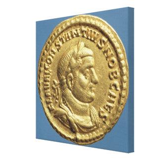 Aureus  of Constantius I  Caesar  Augustus Canvas Print