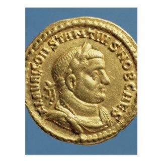 Aureus  of Constantius I  Caesar  Augustus Postcard