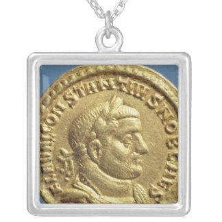 Aureus  of Constantius I  Caesar  Augustus Silver Plated Necklace