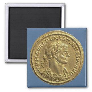 Aureus  of Diocletian  cuirassed 2 Inch Square Magnet