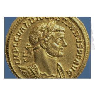 Aureus  of Diocletian  cuirassed Card